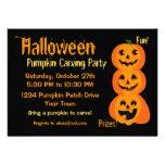 3 calabazas de Halloween Invitaciones Personalizada