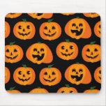 3 calabazas de Halloween Tapetes De Ratón