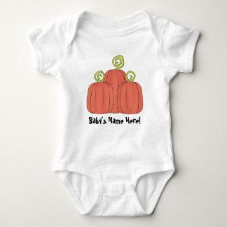 3 calabazas: Enredadera del bebé Body Para Bebé