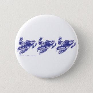 3-Camo-BLUE-Sledders Pinback Button