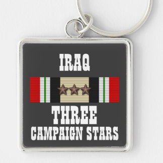 3 CAMPAIGN STARS / IRAQ VETERAN / KEY CHAIN