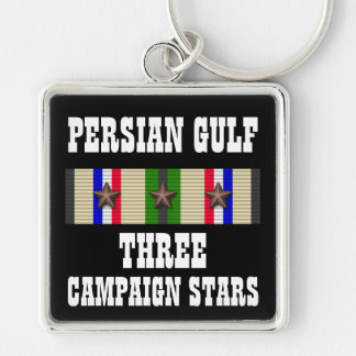 3 CAMPAIGN STARS / PERSIAN GULF WAR VETERAN KEYCHAIN