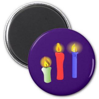 3 candelas de candles imán redondo 5 cm