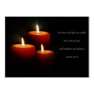 3-Candle Verse Poster
