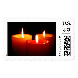 3 candles stamps