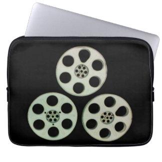 3 carretes de película de cine del vintage, fundas portátiles
