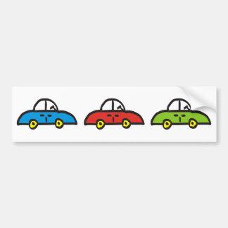 3 cars bumper stickers