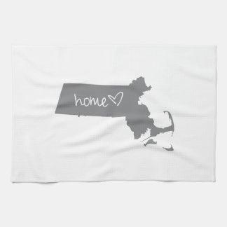 <3 casero Massachusetts Toalla