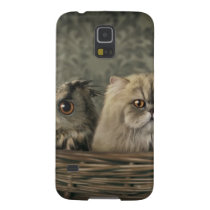 3 Cats and a Owl in a Basket Galaxy S5 Case