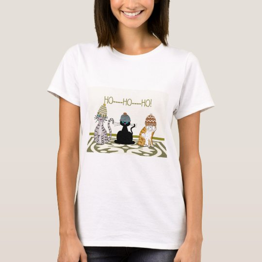 3 Cats With Hats Christmas T-Shirt