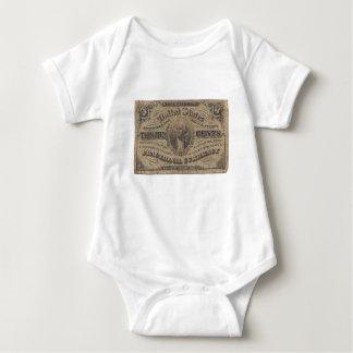 3-Cent Fractional Currency Baby Bodysuit