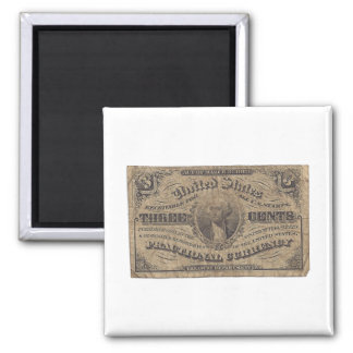 3-Cent Fractional Currency Magnets