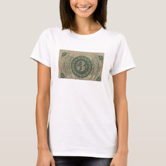 3-Cent Fractional Currency T-Shirt