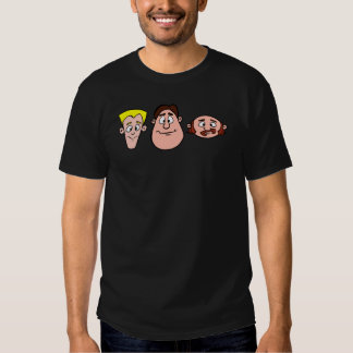 3 Characters Front Face Shirt