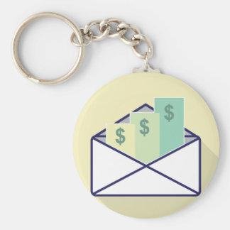 3 Checks in one envelope Keychain