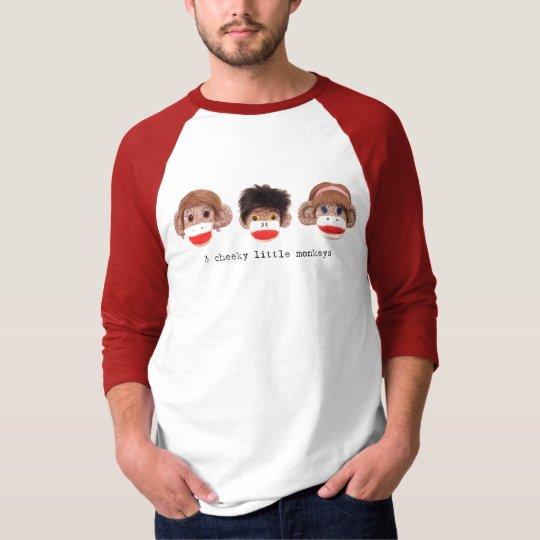 3 cheeky little monkeys Logo Raglan T-Shirt