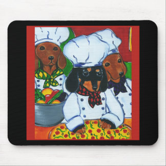 3 Chef  Doxies Mouse Pad