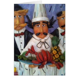 3 CHEF'S ALL OCCASION BLANK GREETING CARD
