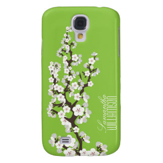 3 Cherry Blossom (green ) Galaxy S4 Cases