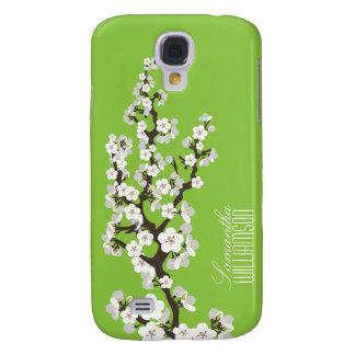 3 Cherry Blossom (green ) Galaxy S4 Cover