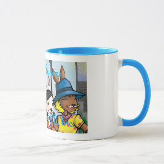 3 Chocolate Bunnies Unicorn Mug