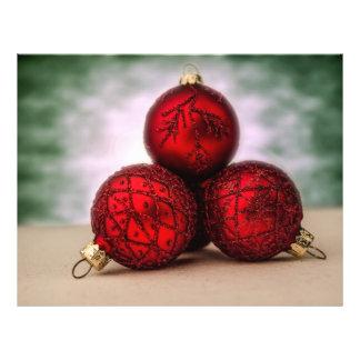 3 chucherías del rojo del navidad flyer personalizado