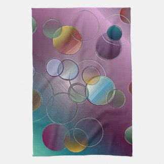 3 círculos y anillos dimensionales toallas de mano