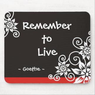 3 citas famosas de la palabra - cita de Goethe Mousepad