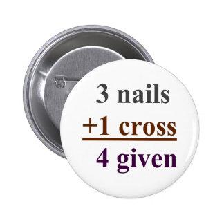 3 clavos + 1 cruz = 4 dados pin redondo 5 cm