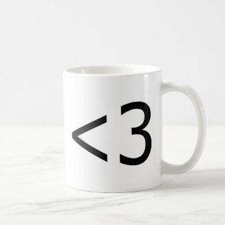 <3 COFFEE MUG