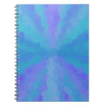 3 Color Choices -Tye Dye Sunburst Spiral Note Book