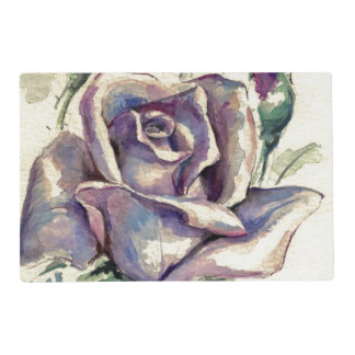 3 color de rosa tapete individual