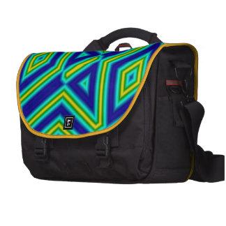 3 color line pattern commuter bags