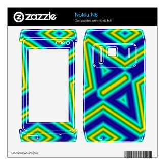 3 color line pattern decals for nokia n8