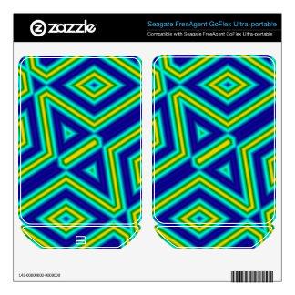3 color line pattern FreeAgent GoFlex decal