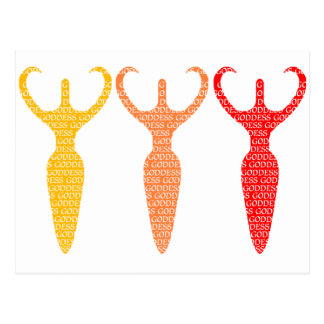 3 Colored Goddesses Postcard