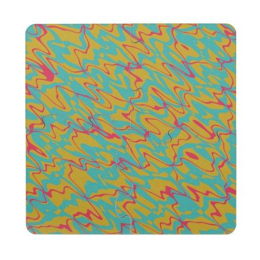3 colores resumen diseño posavasos de puzzle