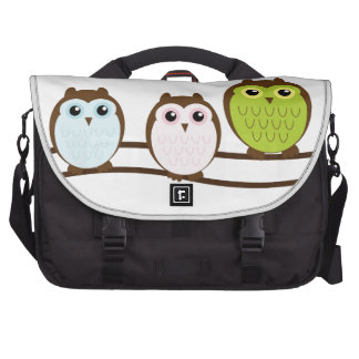 3 colorful owls commuter bags