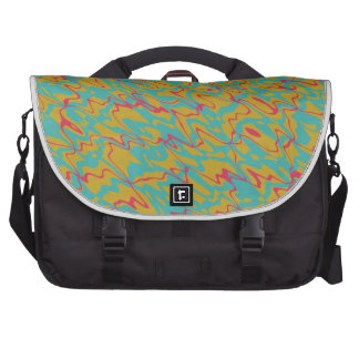 3 colors abstract design laptop bags