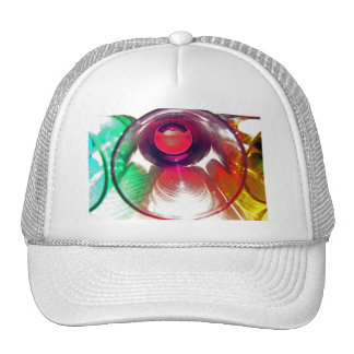 3 Coloured Cocktail Shot Glasses Close Up 2 Trucker Hat