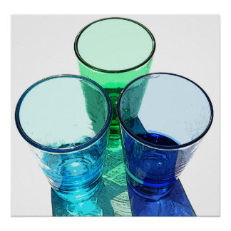 3 Coloured Cocktail Shot Glasses - Style 1 Poster