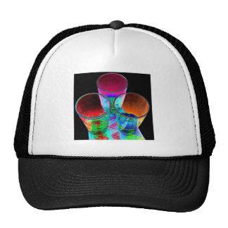 3 Coloured Cocktail Shot Glasses - Style 1 Trucker Hat