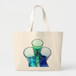 3 Coloured Cocktail Shot Glasses - Style 3 Canvas Bag