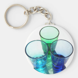 3 Coloured Cocktail Shot Glasses - Style 3 Keychains