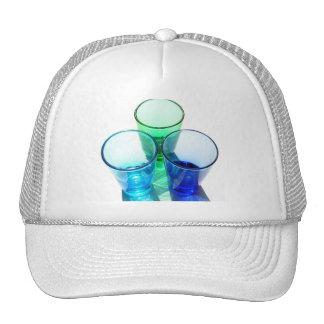 3 Coloured Cocktail Shot Glasses - Style 4 Trucker Hat