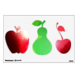 3 Colourful Fruit Wall Decals ©Roseanne Pears 2012