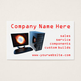 Computer store business cards templates zazzle 3 computer store business cards colourmoves