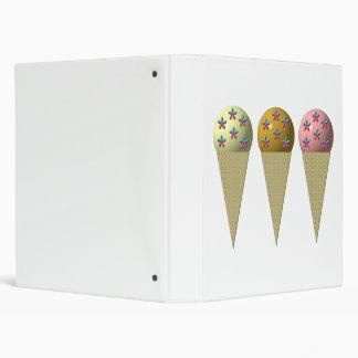 3 conos de helado Vainilla chocolate y fresa