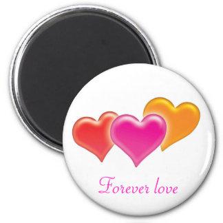3 corazones - ame para siempre - imán