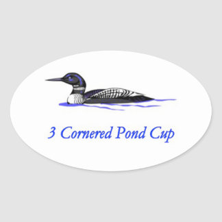 3 Cornered Pond Cup Oval Stickers